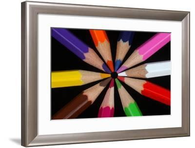 Heads Together with Coloured Pencils.-Rosemary Calvert-Framed Photographic Print