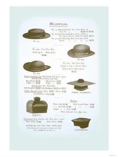 Headwear--Art Print