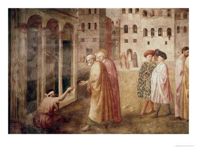 Healing of the Cripple-Masaccio-Giclee Print