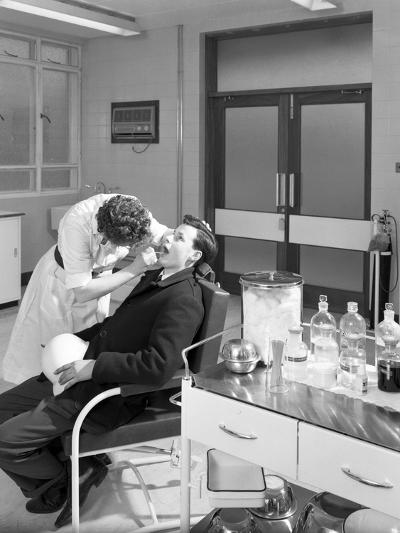 Health Check in the Medical Room, Park Gate Iron and Steel Co, Rotherham, South Yorkshire, 1964-Michael Walters-Photographic Print