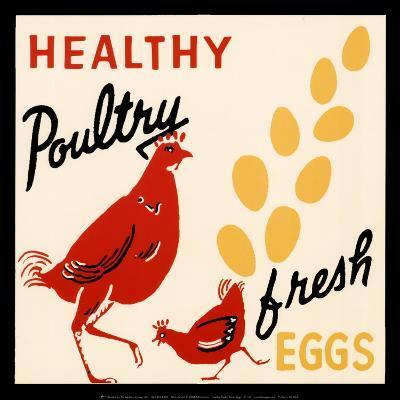 Healthy Poultry-Fresh Eggs--Art Print