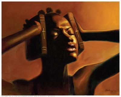 Hear No Evil (Female)-Sterling Brown-Art Print