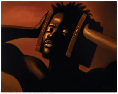 Hear No Evil (Male)-Sterling Brown-Art Print