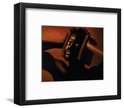 Hear No Evil (Male)-Sterling Brown-Framed Art Print