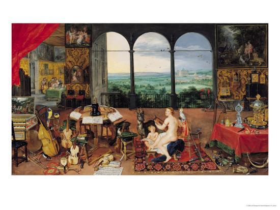 Hearing, 1617-Jan Brueghel the Elder-Giclee Print