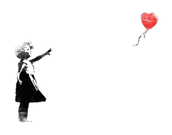 Heart Balloon-Banksy-Art Print