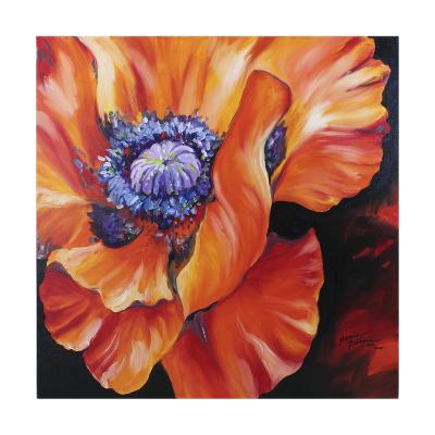 Heart of a Red Poppy-Marcia Baldwin-Art Print