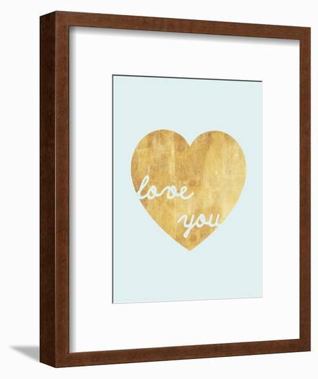 Heart of Gold Love-Miyo Amori-Framed Art Print