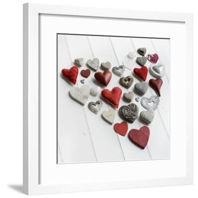 Heart of Hearts on White Wood-Tom Quartermaine-Framed Giclee Print