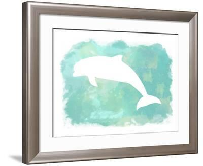 Heart of the Sea Dolphin-Tina Lavoie-Framed Giclee Print