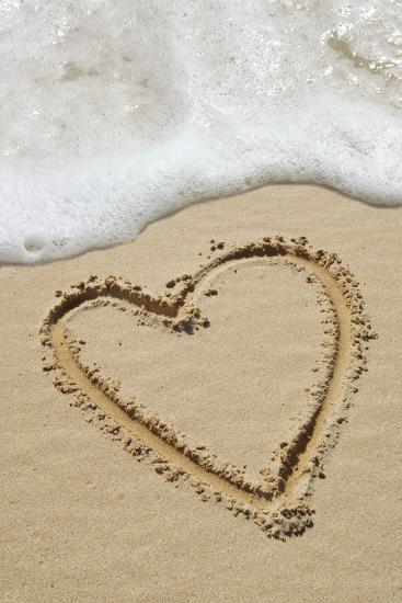 Heart-shape Drawn In Sand-Tony Craddock-Photographic Print