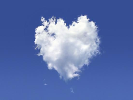 Heart-Shaped Cloud, Artwork-LEONELLO CALVETTI-Photographic Print