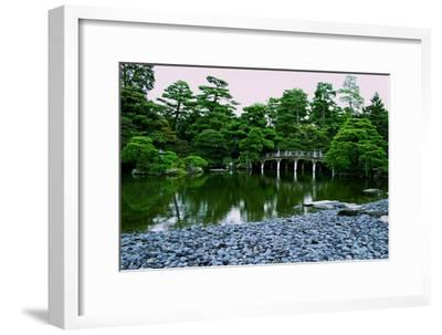 A Bridge on the Grounds at Kyoto's Nijo Castle