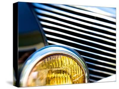 Close Up of the Grill and Headlight of a 1940 Mercury Eight Car