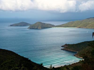 Guana Island Seen from High Atop Tortola Island