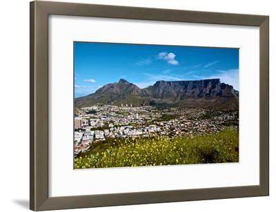 Table Mountain Looms Above the City of Cape Town