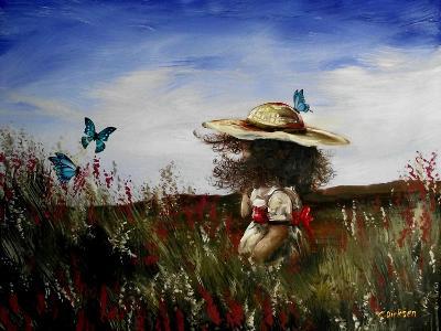 Heather with Butterflies-Cherie Roe Dirksen-Giclee Print