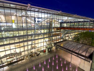 Heathrow Airport Terminal 5 Building at Dusk, London, England, United Kingdom, Europe-Charles Bowman-Photographic Print