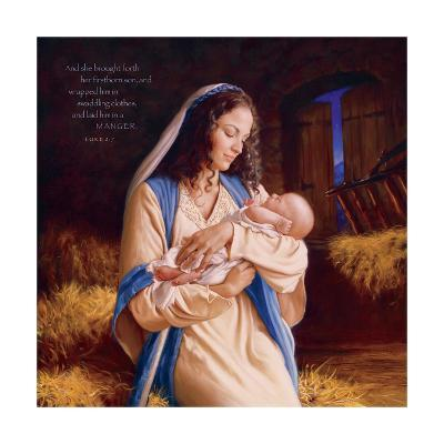 Heaven's Perfect Gift - Manger-Mark Missman-Art Print