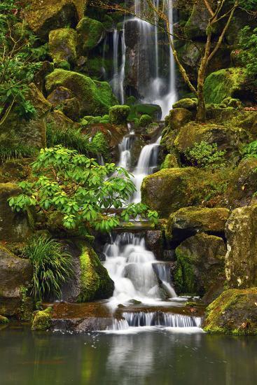 Heavenly Falls, Portland Japanese Garden, Portland, Oregon, Usa-Michel Hersen-Photographic Print