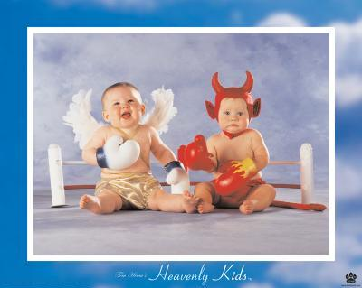 Heavenly Kids, Good Wins-Tom Arma-Art Print