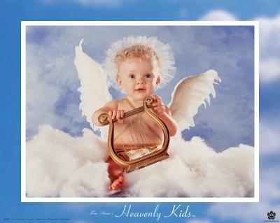 Heavenly Kids, Harp-Tom Arma-Art Print