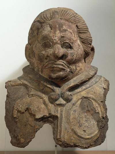 Heavenly King, Clay Bust, Japan. Japanese Civilization, Nara Period, End 8th Century--Giclee Print