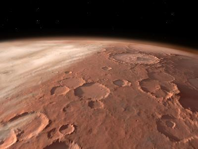Heavily Cratered Highlands on the Surface of Mars-Stocktrek Images-Photographic Print
