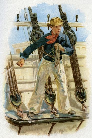 Heaving the Lead, 18th Century (C1890-C189)--Giclee Print