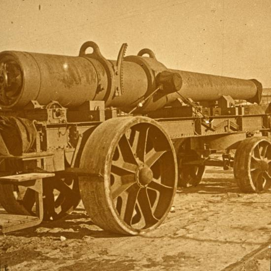 Heavy artillery, 1917 Offensive-Unknown-Photographic Print