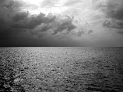 Heavy Clouds over Dark Water-Heather Perry-Photographic Print