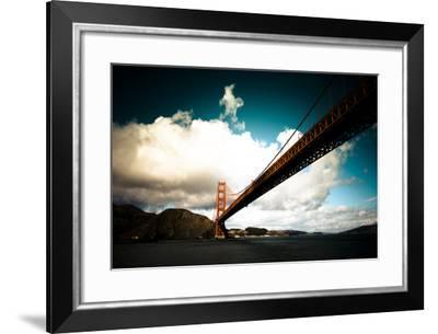 Heavy Clouds over the Golden Gate Bridge, Seen from Below-Sergio Pitamitz-Framed Photographic Print