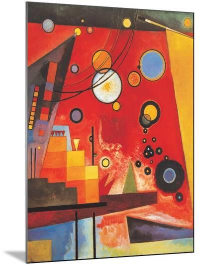 Heavy Red-Wassily Kandinsky-Mounted Print
