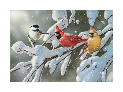 Heavy Snowfall-William Vanderdasson-Giclee Print