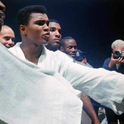 Heavyweight Boxer Cassius Clay, aka Muhammad Ali, After His Fight with Sonny Liston-John Dominis-Premium Photographic Print