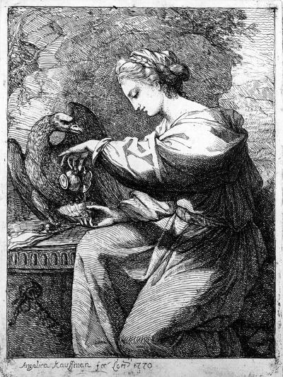 Hebe, 1770-Angelica Kauffmann-Giclee Print