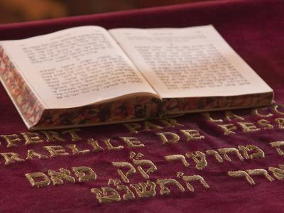 Hebrew Bible in Fes Synagogue, Morocco-William Sutton-Photographic Print