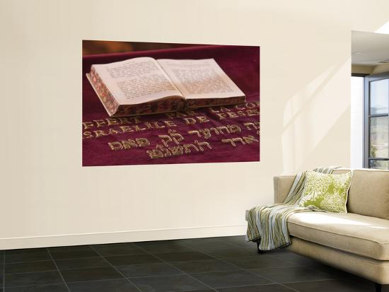 Hebrew Bible in Fes Synagogue, Morocco-William Sutton-Wall Mural