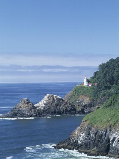 Heceta Head Lighthouse and Seastacks, Cape Sebestian, Oregon, USA-John & Lisa Merrill-Photographic Print