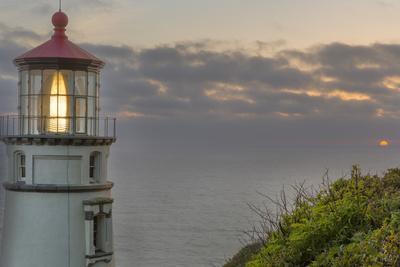 Heceta Head Lighthouse at Sunset Near Florence, Oregon, USA-Chuck Haney-Photographic Print