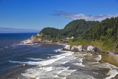Heceta Head Lighthouse Near Florence, Oregon, USA-Chuck Haney-Photographic Print