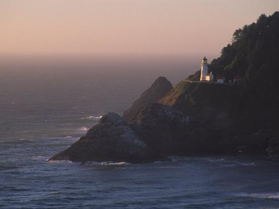 Heceta Head Lighthouse, Oregon, USA-Michael Snell-Photographic Print
