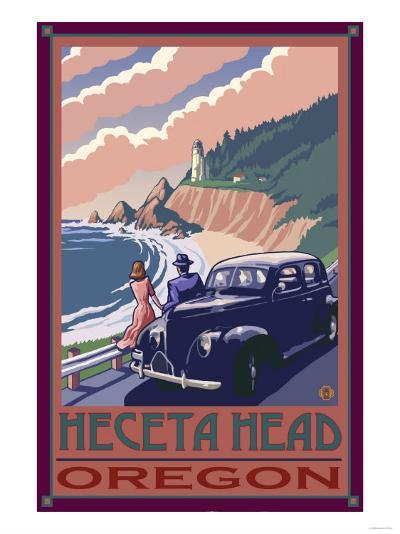 Heceta Head Lighthouse, Oregon-Lantern Press-Art Print