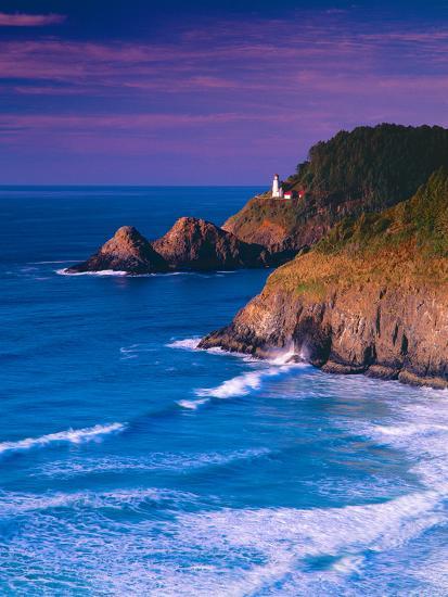 Heceta Head Lighthouse-Ike Leahy-Photographic Print