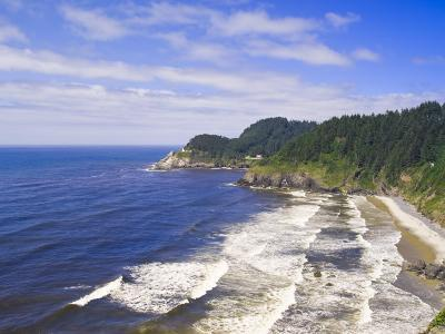 Heceta Heads Lighthouse State Scenic Viewpoint, Oregon, United States of America, North America-Michael DeFreitas-Photographic Print
