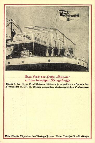 Heck Der Prise Appam, Möwebuch, Probe 3, Schiff, Fahne--Giclee Print