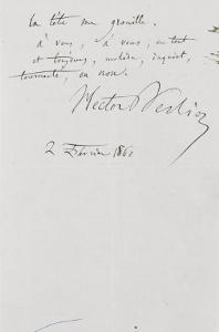 Recueil de lettres et esquisses : lettre autographe à Pauline Viardot by Hector Berlioz
