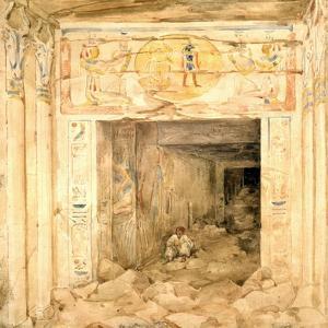 Temple Edfu, Egypt, 19th Century by Hector Horeau