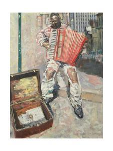 Accordion Player, 1999 by Hector McDonnell