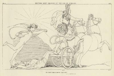 Hector's Body Dragged at the Car of Achilles-John Flaxman-Giclee Print